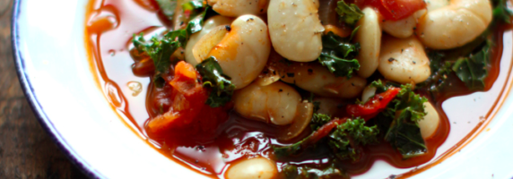 white bean and kale stew picture